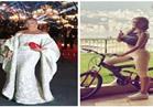 صور.. نيكول سابا تمارس رياضة ركوب الدراجات بعد جائزة الـ »بياف«