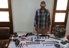 ضبط عامل حوّل منزله لورشة تصنيع أسلحة نارية بالفيوم