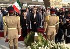 جيهان السادات وامبراطورة إيران السابقة تزوران قبري السادات والشاه