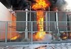 إخماد حريق بكابينة كهرباء بسكك حديد إمبابة