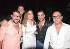 صور| محمد رجب وتامر أمين وماجد المصري يحتفلون بعيد ميلاد منة عمارة