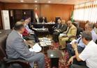 محافظ المنوفيه يبحث مشاكل التعليم والصحة مدينة السادات