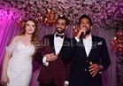 صور| حماقي وسامو زين ودينا يحيون زفاف ابنة عم أشرف زكي