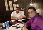 صور| أكرم حسني يتعاقد على أول بطولة درامية مطلقة