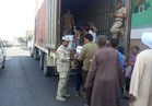 توزيع 1000 كرتونة مواد غذائية من القوات المسلحة لأهالي سفاجا