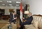 حسين زين يستقبل سفير سلطنة عمان بالقاهرة