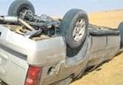 مصرع 3 أشخاص وإصابة اثنين في حادث انقلاب سيارة بالمنيا