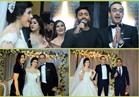 صور| تامر حسني وبوسي وعدوية نجوم زفاف «انطوان ومريم»