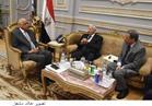 رئيس البرلمان يستقبل مكرم محمد أحمد وكرم جبر