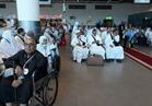 ممثل الأوقاف يلقي خطبة توعية للحجاج قبل مغادرتهم مطار القاهرة