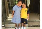 حفيدة غادة عبد الرازق وأبناء هند صبري و إيمي سالم في أول يوم دراسة |صور