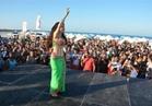 صور| دينا تتألق بـ«الأخضر» في ختام حفلات مارينا