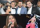 صور| تامر حسني وبوسي يغنيان والآكوشنير ترقص بزفاف «أحمد ولجين»