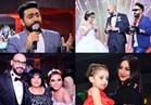صور| تامر حسني وبوسي ودينا وأحمد عصام يشعلون زفاف «أحمد وبسنت»