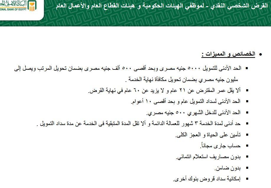كل ما تريد معرفته عن القروض الشخصية من البنك الأهلي المصري بوابة أخبار اليوم الإلكترونية