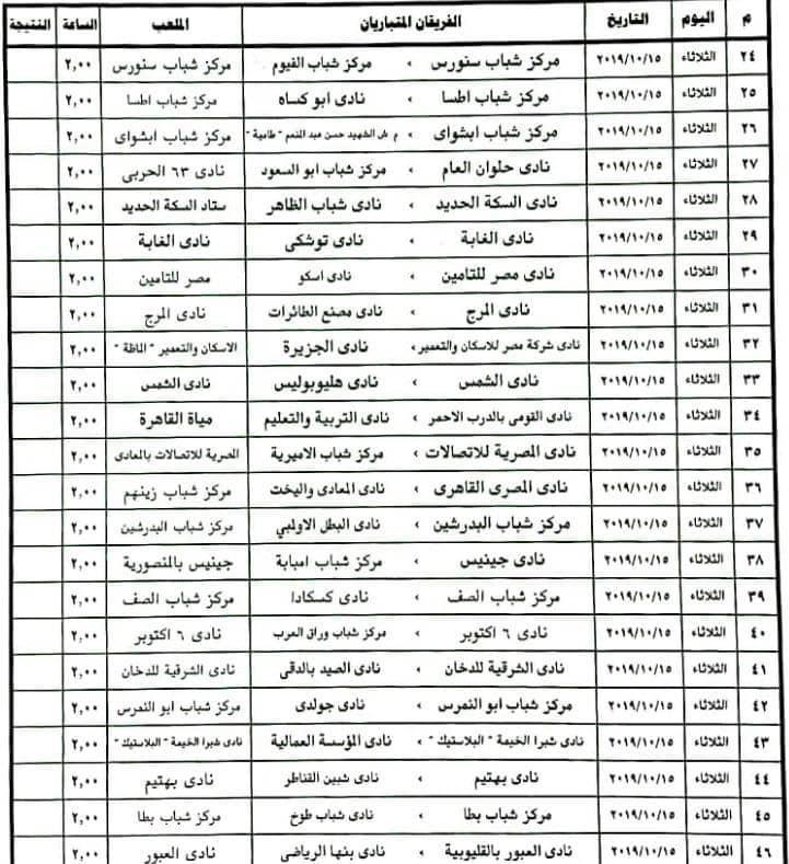 جدول مباريات الأدوار المؤهلة في بطولة كأس مصر موسم 2019 2020