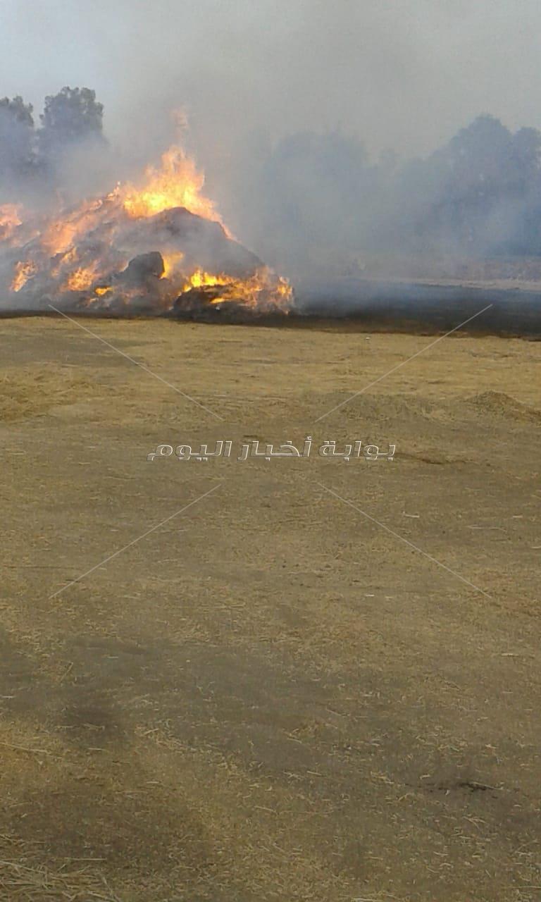 حريق هائل بمصنع كتان بشبراملس في الغربية