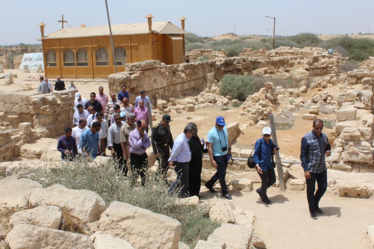 وفد من اليونسكو والفاو يزور منطقة آثار أبومينا