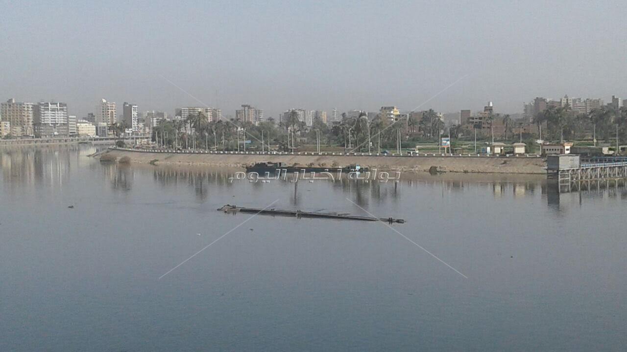شحوط صندل فى النيل بسوهاج