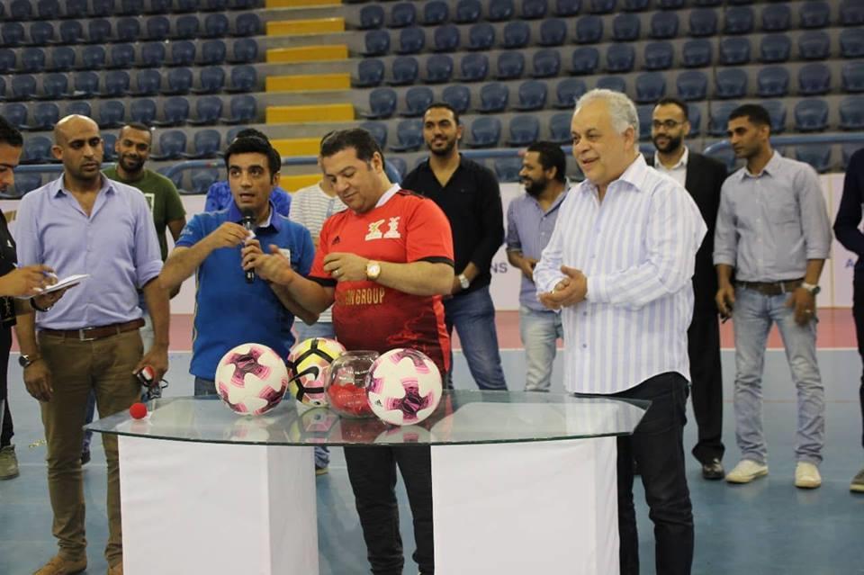أشرف زكي ومحمد فاروق يشاركان في افتتاح دورة فالكون باستاد القاهرة