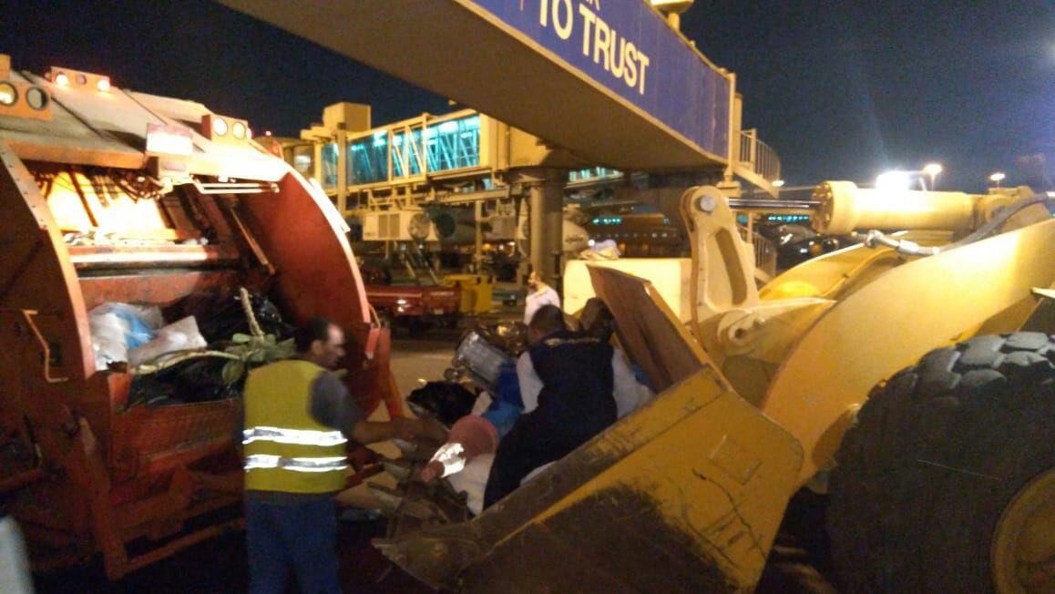 صيانة مهبط الطائرات بمطار القاهرة الدولي