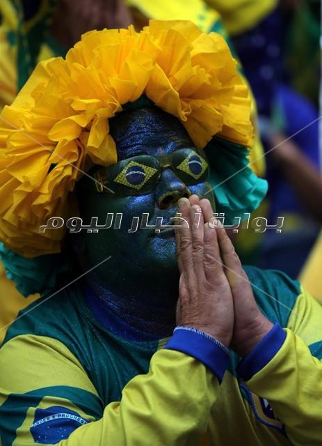 هكذا احتفل جمهور البرازيل بالفوز على كوستاريكا