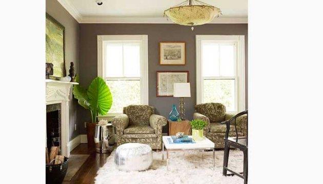 سحر اللون الرمادى في غرفة معيشتك
