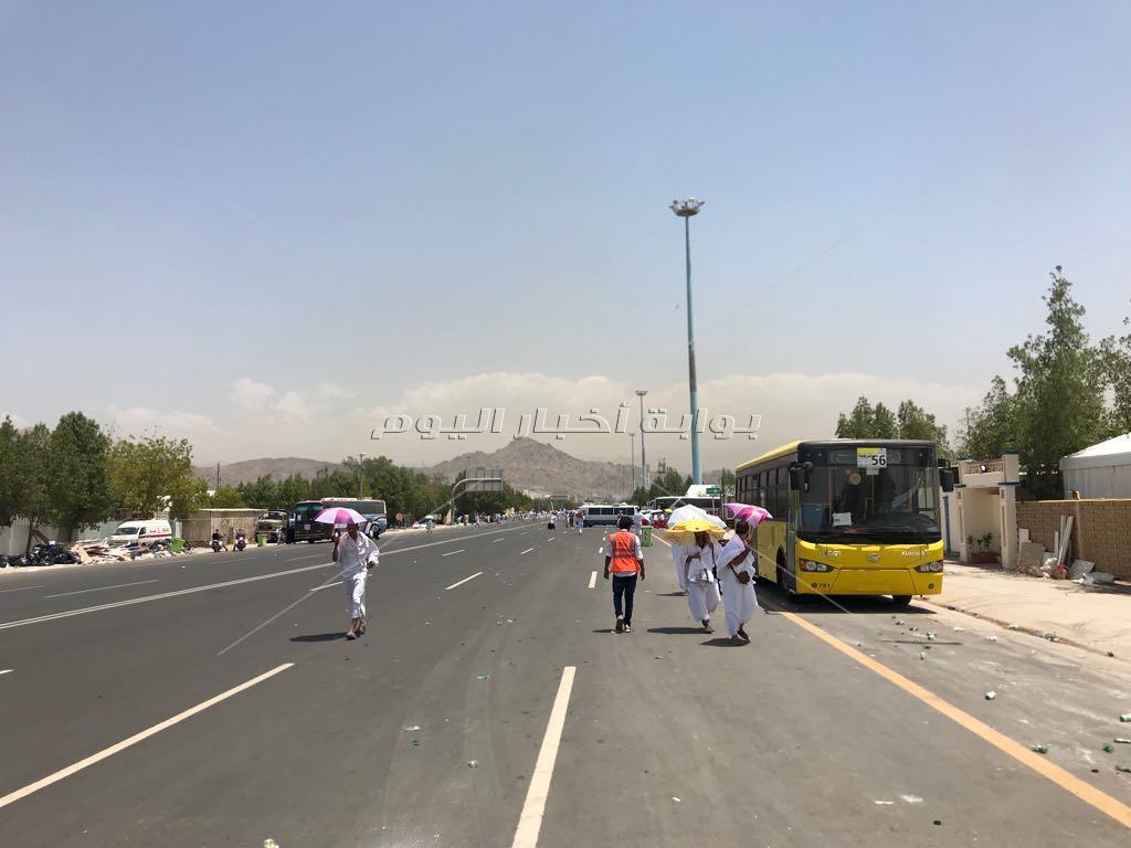 شوارع عرفات خالية من الازدحام