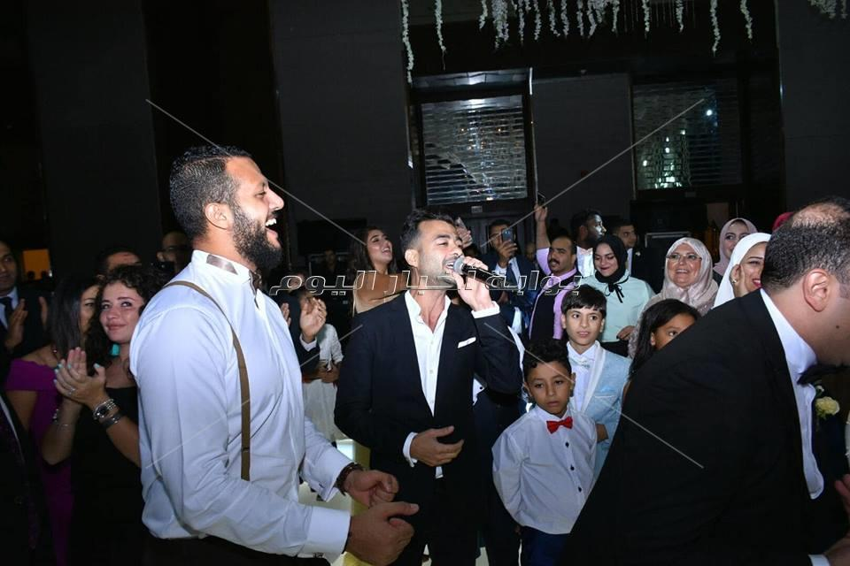 هيثم شاكر ومحمد رشاد يحيون حفل زفاف محمد  وسمية
