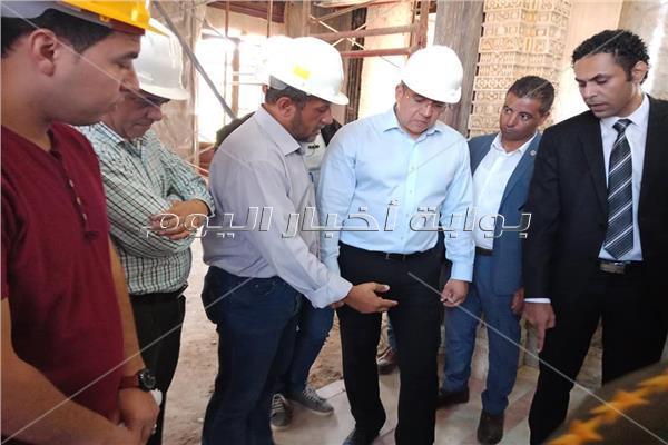 وزير الآثار يتفقد مشروع تطوير وترميم قصر البارون