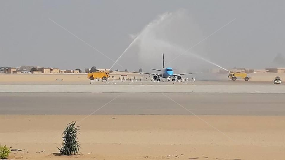 مطار سفنكس الدولي يستعد لاستقبال أول رحلة طيران