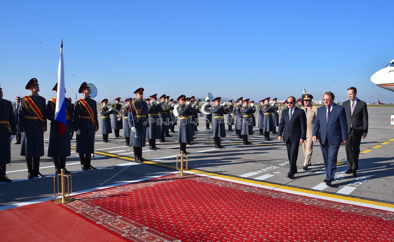 صور وصول السيد الرئيس للعاصمة الروسية موسكو