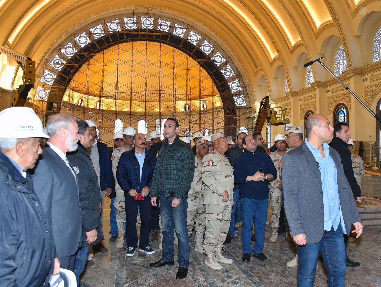 زيارة السيسي للكاتدرائية في العاصمة الاداري
