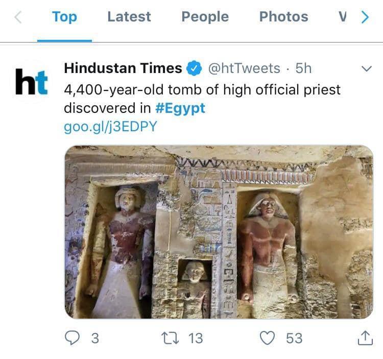 كشف مقبرة كاهن التطهير بسقارة تتصدر الصفحات الأولى للصحف العالمية