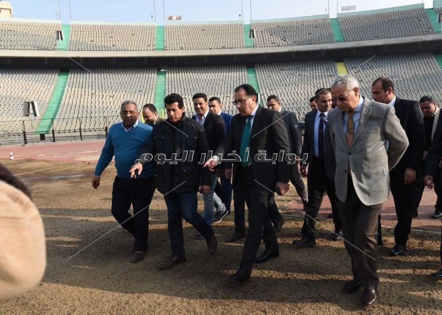 رئيس الوزراء يتابع أعمال تطوير إستاد القاهرة استعدادا لبطولة الأمم الإفريقية
