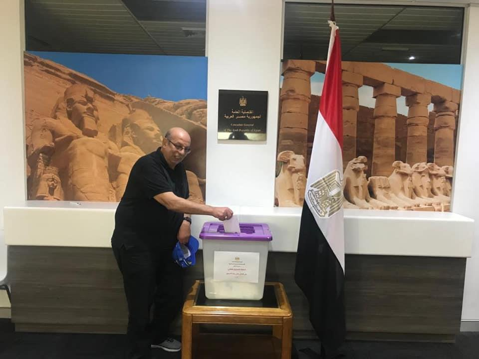 الجالية المصرية في استراليا تشارك في التعديات الدستورية