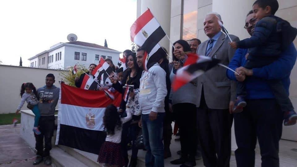 الجالية المصرية في قبرص تشارك في التعديات الدستورية