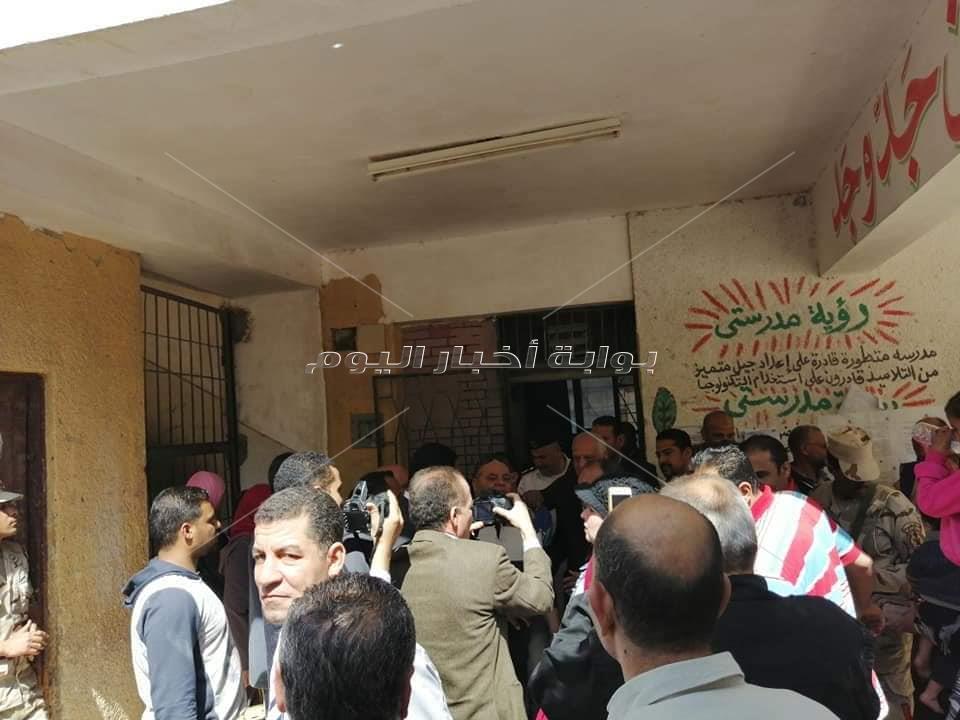 اللواء أحمد راشد يتفقد لجان الحوامدية بالجيزة
