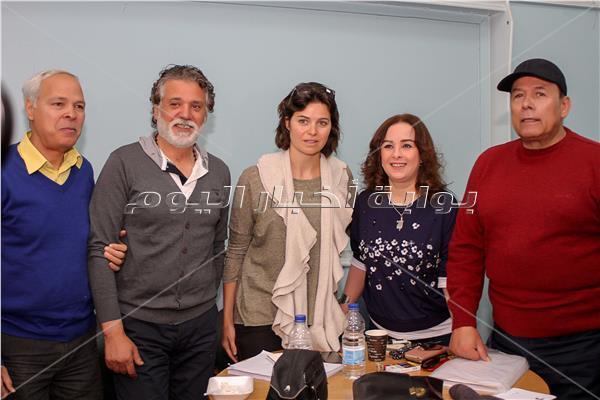 """صور... كواليس أسرة مسلسل إذاعي """"عين الحياة"""" لعبد الرحمن أبو زهره"""