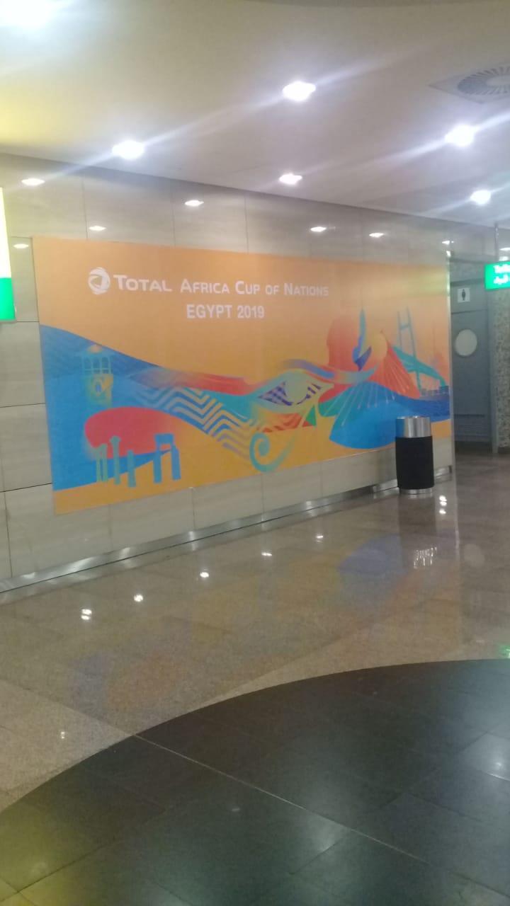 صور مطار القاهرة الدولي يتزين لإستقبال بطولة كأس الأمم الإفريقية