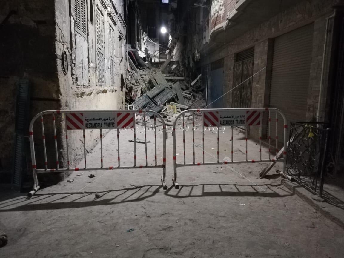 انهيار جزئي بعقارين في الإسكندرية