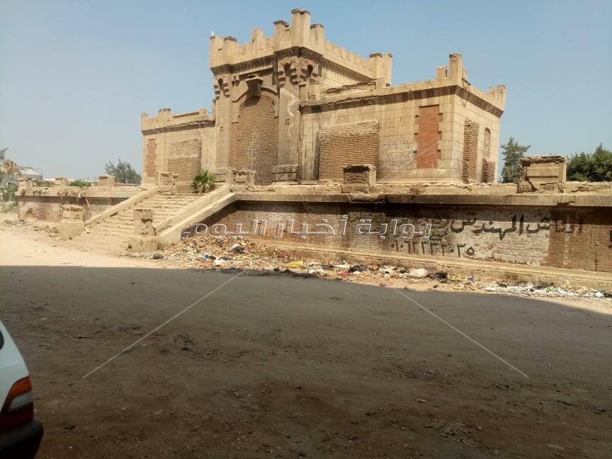 محطة الملك فؤاد الاثرية تتحول الى مقلب قمامة