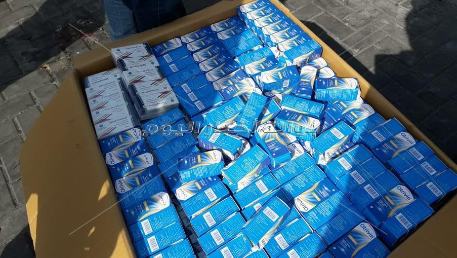 ضبط تهريب كمية كبيرة من الأدوية البشرية المحلية والأجنبية الصنع بجمارك شرق بورسعيد