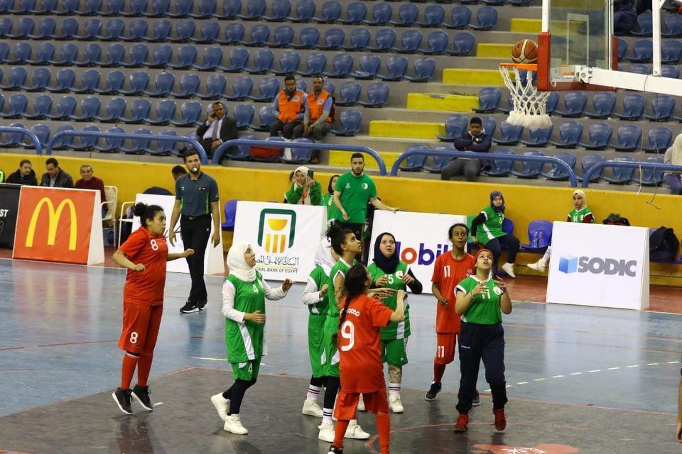 """فوز سلة المغرب """"بنات"""" على منتخب الجزائر في البطولة الافريقية للأولمبياد الخاص"""