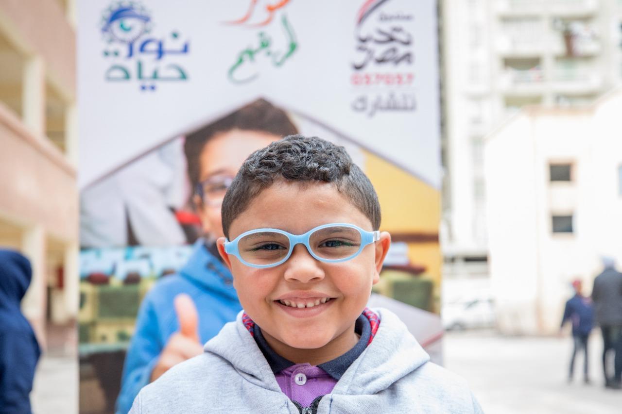 صندوق تحيا مصر : نور حياة تجري الكشف الطبي على 55680 تلميذًا في أسبوع