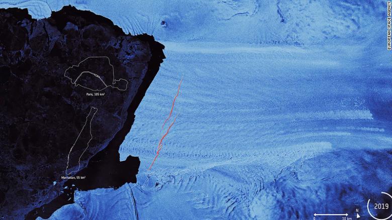 انفصال الجبل الجليدي، عن جبل باين أيلاند القطبي الجنوبي