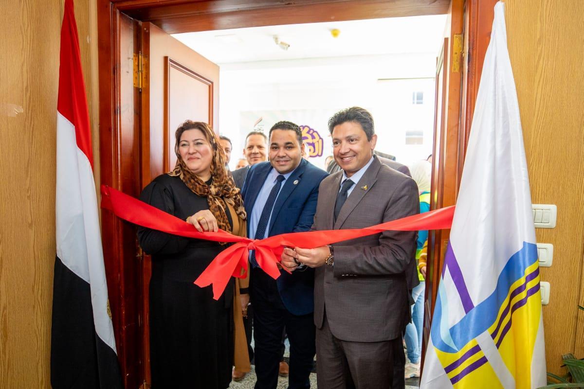 تحيا مصر ينظم معرض«دكان الفرحة» بجامعة دمياط لتوزيع 15  ألف قطعة ملابس جديدة