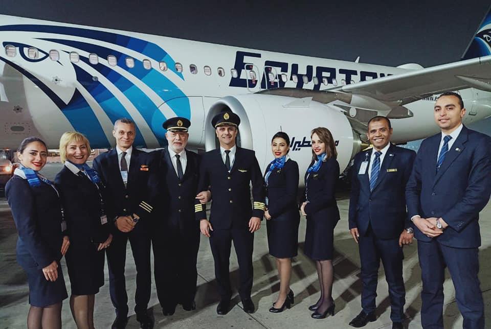 مصرللطيران تتسلم الطائرة الثانية الجديدة من طراز الإيرباص A320 neo بمطار القاهرة