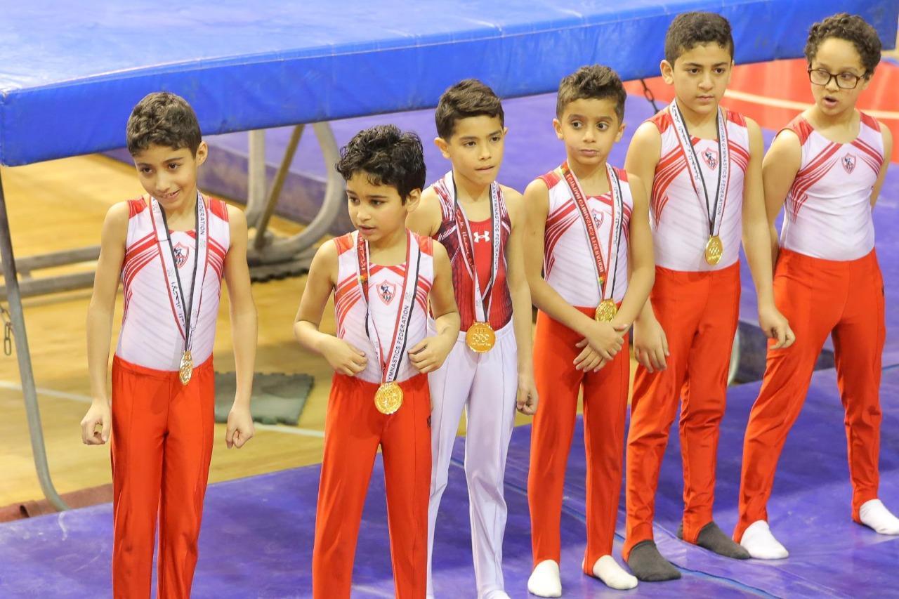 الزمالك يحصد 30 ذهبية في بطولة الجمهورية لجمباز الترامبلوين 2020