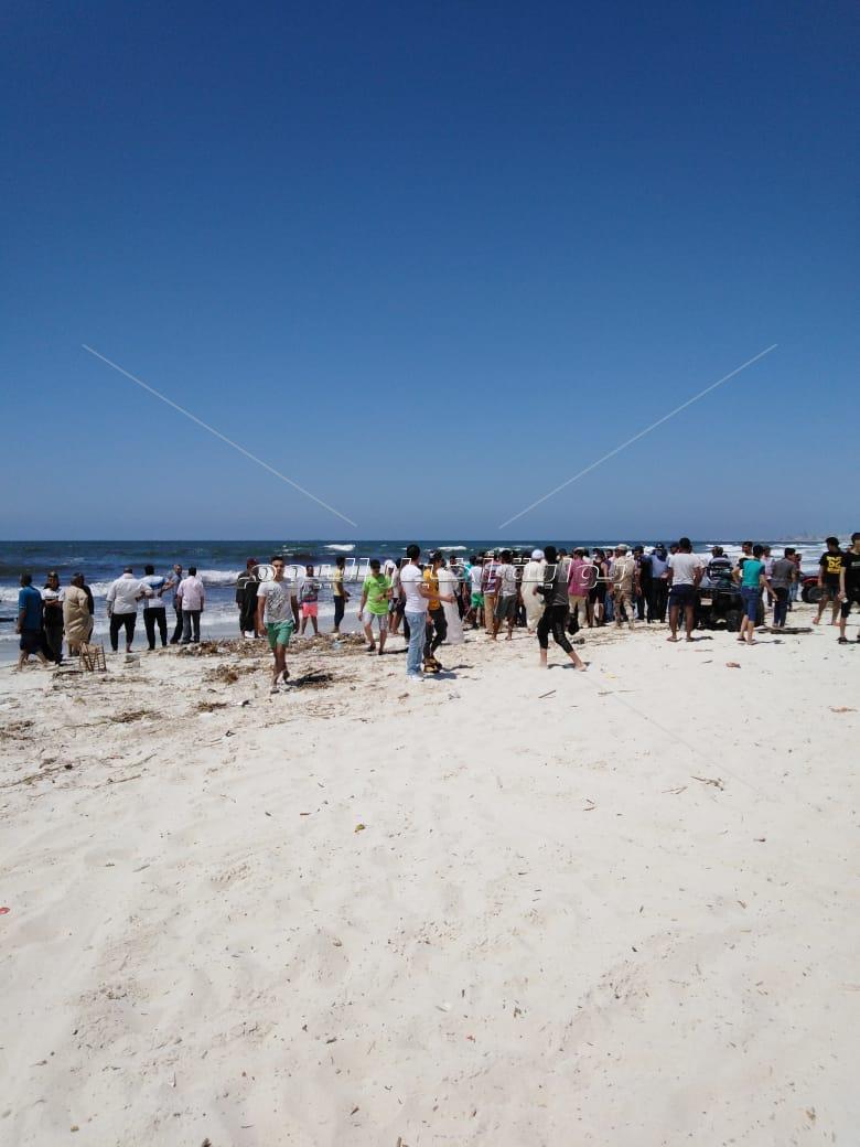 انتشال جثة غريق من شاطئ النخيل بالإسكندرية